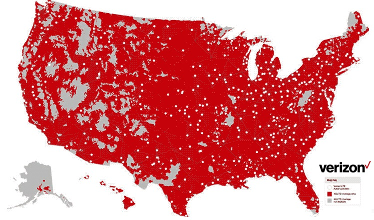 Compare Cell Phone Coverage Map Reviews - Us-cellular-national-coverage-map