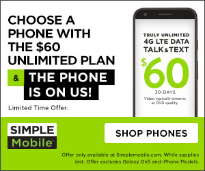 Simple Mobile 60 dollar unlimited LTE
